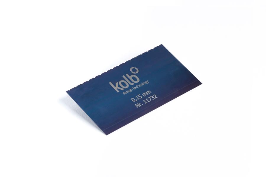 德國Kolb鋼質刮片 單邊帶齒 11732